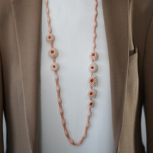Tzuri_Gueta_handmade_jewellery_necklace_long_sautoir_salmon_nacre_organic_styled_silicone_viscose_statement_chunky_Paris_France