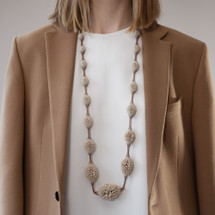 Tzuri_Gueta_handmade_jewellery_necklace_statement_chunky_organic_looking_camel_Sahara_dark_beige_long_Paris_France