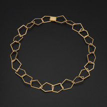 Deco_Echo_handmade_jewellery_necklace_gold_plated_sterling_silver_geometric_cut_out_design_short_necklace_Poland