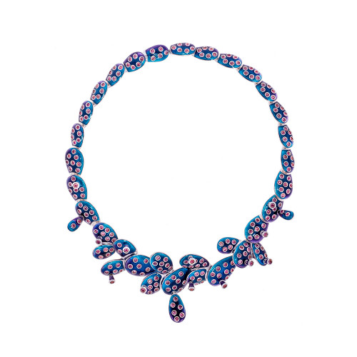 Simon_Harrison_handmade_jewellery_necklace_choker_ombre_silver_Frida_Kahlo_collection_cactus_London_designers_statement_chunky_cacti
