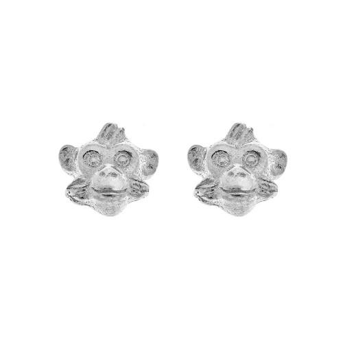 Simon_Harrison_jewellery_handmade_earrings_studs_sterling_silver_monkey_Chinese_new_year_zodiac_sign_London_designer
