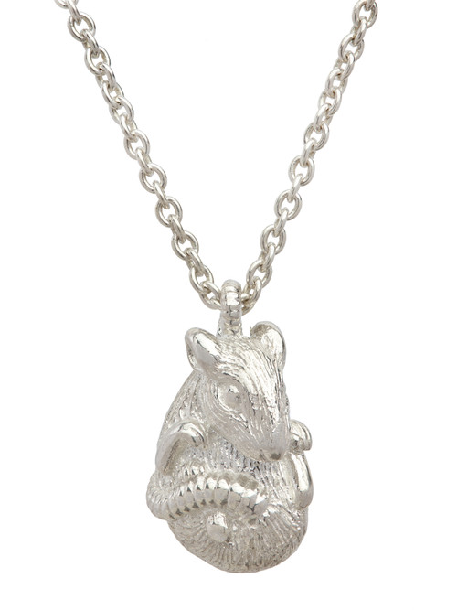 Simon_Harrison_handmade_jewellery_rat_necklace_pendant_sterling_silver_Chinese_Zodiac_Chinese_New_Year_year_of_the_rat_London