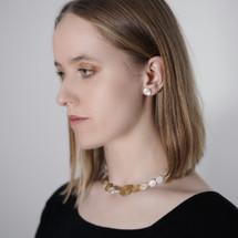 Deco_Echo_sterling_silver_pebble_earrings_studs_handmade_jewellery_handmade_in_Poland