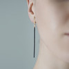Deco_Echo_handmade_jewellery_long_linked_gold_plated_oxidised_oxidised_sterling_silver_handmade_in_Poland_earrings
