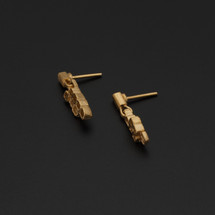Deco_Echo_handmade_jewellery_earrings_studs_geometric_square_gold_plating_sterling_silver_made_in_Poland
