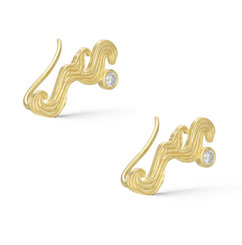 The Tarot Magician 18K Gold Plated Stud Earrings with Zirconia