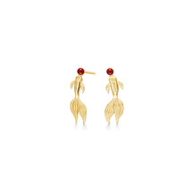 Polar_jewellery_handmade_jewellery_earrings_koi_fish_22k_gold_plating_925_sterling_silver_red_bamboo_coral_solid_Japanese_koi_Japanese_inspired_jewellery
