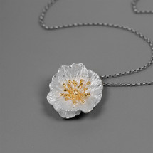 Botanic_garden_nature_inspired_jewellery_sterling_silver_gold_plating_poppy_flower_large_necklace_pendant_made_in_China