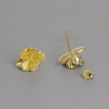 Botanic_garden_earrings_studs_sterling_silver_gold_plating_flower_floral_made_in_China