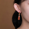 Amira_S_sterling_silver_gold_plated_earrings_drop_dangle_square_rectangle_ natural_red_agate_statement_handmade