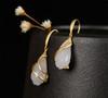 Amira_S_handmade_jewellery_earrings_drop_gold_plating_sterling_silver_white_jade_stone_drooping_flower_floral