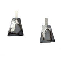 cristina zani grey small triangle earrings