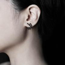 Moorigin Bubble Earrings XS black