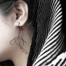 Moorigin Dandelion Dandelion Earrings  black