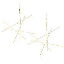 Moorigin Abstract Line Earrings Gold
