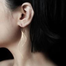 Moorigin Ripple Drop Earrings Gold
