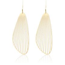 Moorigin Fan Drop Earrings Large Gold