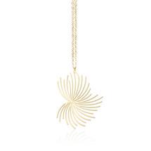 Moorigin_necklace_Dandelion_pendant_gold_plating_stainless_steel_nature_inspired_jewellery