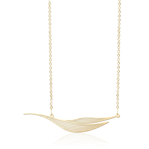Moorigin_jewellery_necklace_pendant_gold_PVD_plating_Ripple_nature_inspired_jewellery_made_in_Taiwan_stainless_steel