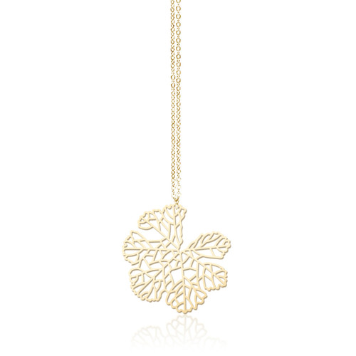 Moorigin_jewellery_necklace_pendant_gold_PVD_plating_stainless_steel_skeleton_leaf_nature_inspired_made_in_Taiwan