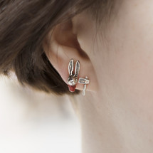 Momocreatura_London_sterling_silver_earrings_studs_handmade_jewellery_rabbit_axe_chopped_off_rabbits_head_blood