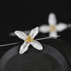 Sterling Silver and Gold Plating Long 'Trillium' Flower Earrings