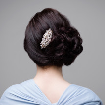 'Hattie' Vintage Inspired Pearl and Crystal Bridal Hair Comb