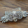 'rosemary' Vintage Inspired Art Deco Discs Bridal Hair Comb