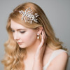'Aimee' Dreams of Enchantment Flower Side Pearl Headpiece Wedding Bridal Tiara