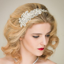 'Magdalena' Exquisite Pearl Side Tiara