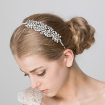 diamonte bridal wedding side headband headpiece wedding lily luna bespoke vintage