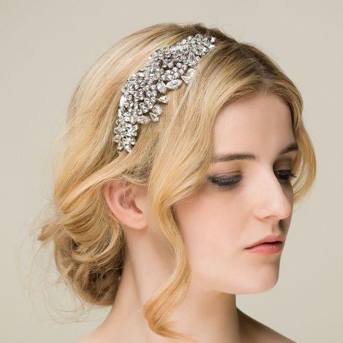 Crystal 'Lola' Diamante Side Headdress