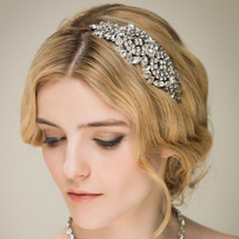 Crystal 'Lola' Diamante Side Headdress