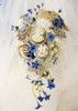 Something Blue -Ivory Silver Heart Shaped Bridal Brooch Bouquet (SAMPLE SALE)
