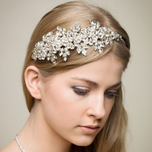 'Prudence' Treasure Diamanté Side Tiara