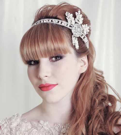 'Isabella' Glamour Gatsby Flapper Diamonite headpiece