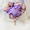 TURE HEART pink and purple heart shaped brooch bouquet