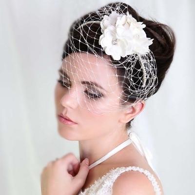 Romantic 'Flora' Headpiece Bridal Birdcage