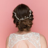 Knowsley Crystal Hair Vine wedding bridal headpiece, back hair chain with pearls