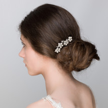 'Lisa' Flower Pearl Hair Pin