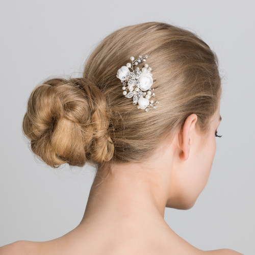 Charming 'Sarah' Rose Bridal Hair Pin