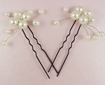 Philomena Vines of Love Flower Pearl Bridal Hair Pins