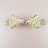 'Annora' Vintage Inspired Ivory Pearl Bow Hair Clip