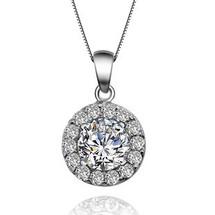 Annabelle Infinity Diamante Drop 925 Silver Pendant