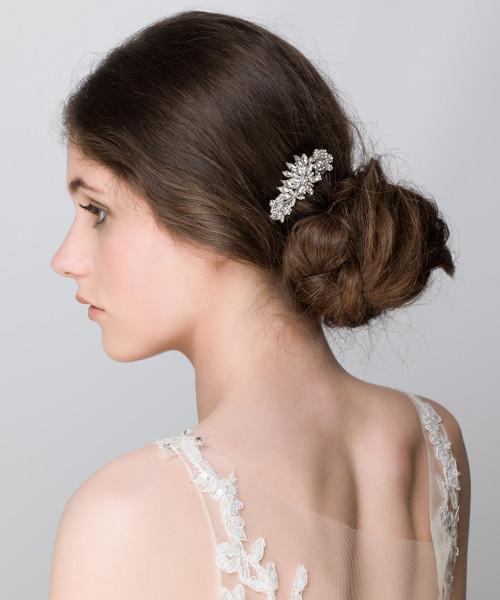 'Sofia' Vintage Posy Sparkly Diamonite Small Hair Comb Slide