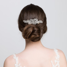 'Annmarie' Diamante Crystal Flower Bridal Hair Comb