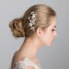 Elsa frosty flower bridal hair comb.