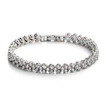 'Alexis' Diamanté Slim Tennis Bracelet