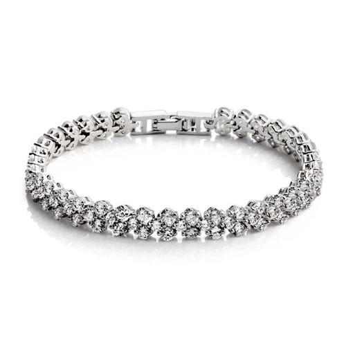 'Alexis' Diamanté Slim Tennis Bracelet