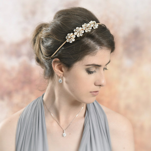 'Venus' Crystal Flower Headband